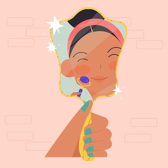 Frau mit jadewalze illustriert