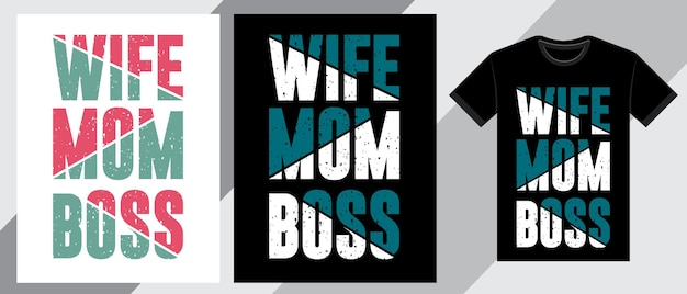 Frau mutter chef typografie t-shirt design