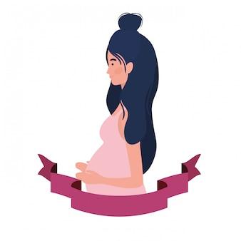 Frau schwanger mit zierband