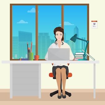 Frau sekretärin büroleiterin