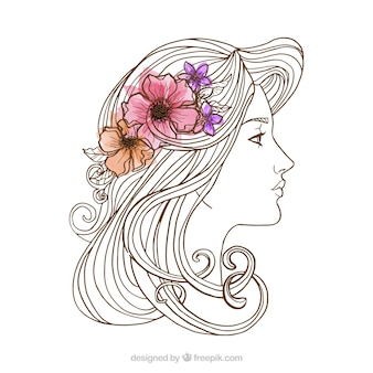 Frau skizze