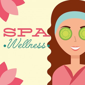 Frau spa wellness
