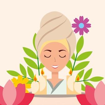 Frau spa wellness