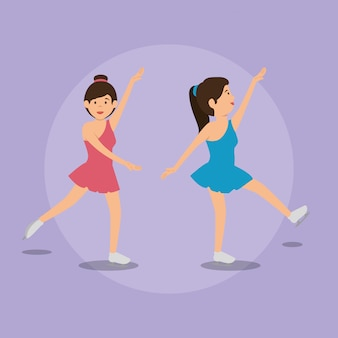 Frau tanzt klassiker