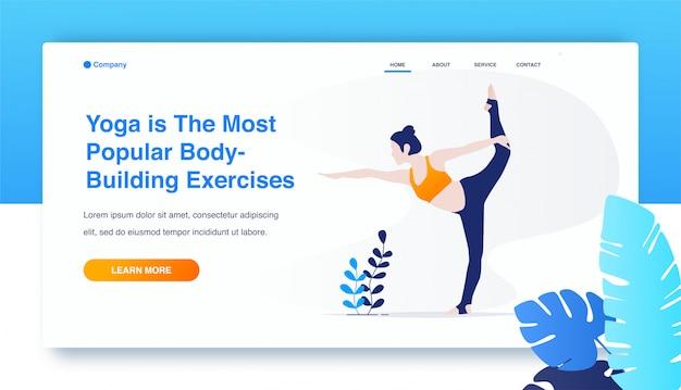 Frau yoga