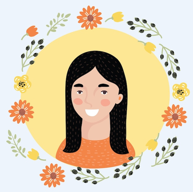 Frauen-avatar-club-stil