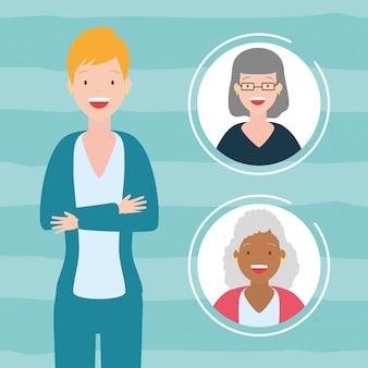 Frauen-avatar-sammlung