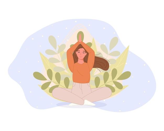 Frauen, die im lotussitz meditieren