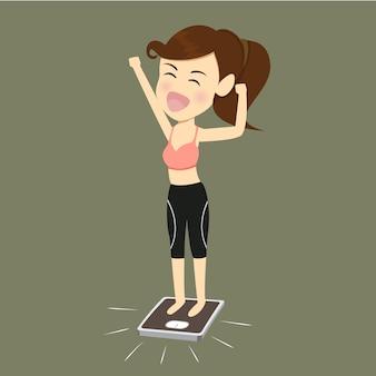 Frauen erfolg verlieren gewicht.