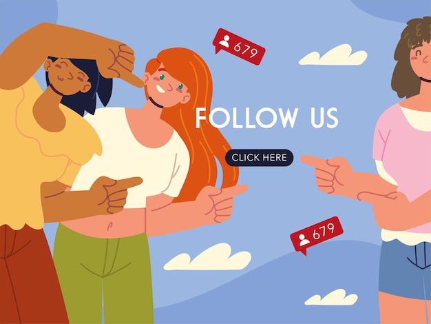 Frauen folgen uns klick