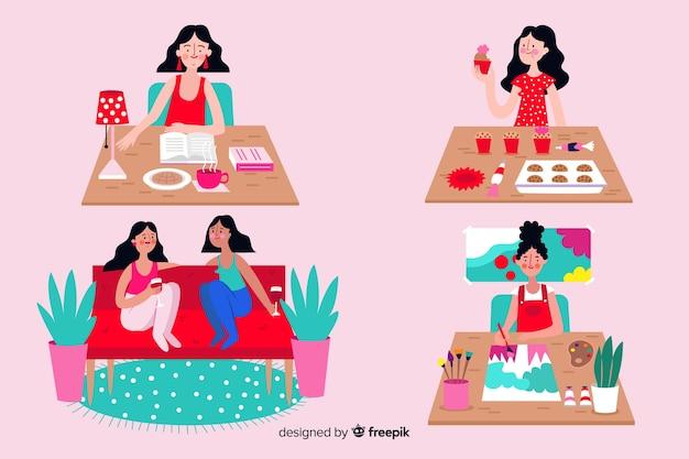 Frauen genießen ihre freizeit