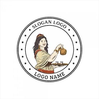Frauen handgezeichnetes logo