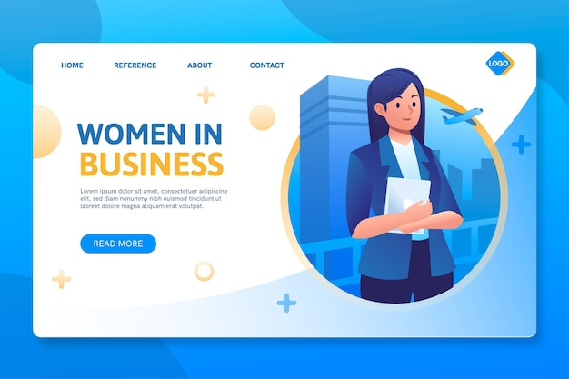 Frauen in business seo landing page
