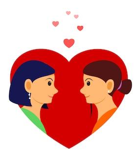 Frauen in der liebesillustration