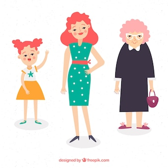 Frauen in verschiedenen altersstufen