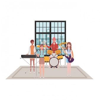 Frauen mit musikinstrumenten