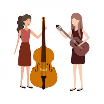 Frauen mit musikinstrumentencharakter