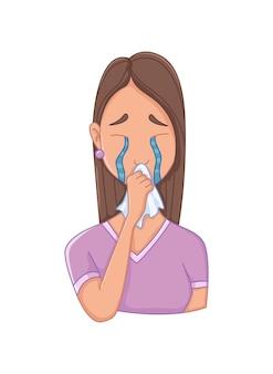 Frauen mit stresssymptomen - depression. emotionales oder psychisches gesundheitsproblem, stress