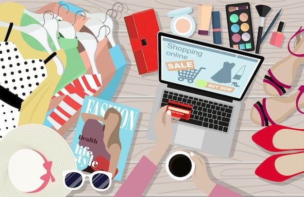 Frauen sind beim online-shopping am glücklichsten.