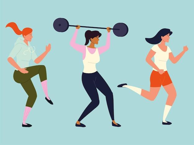 Frauen trainieren