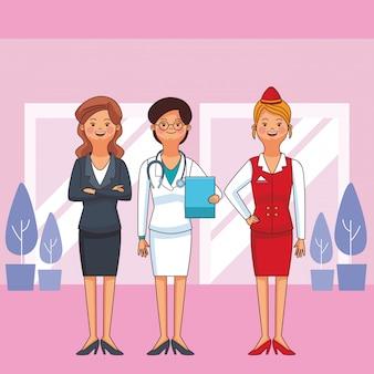 Frauenberuf und beruf avatare