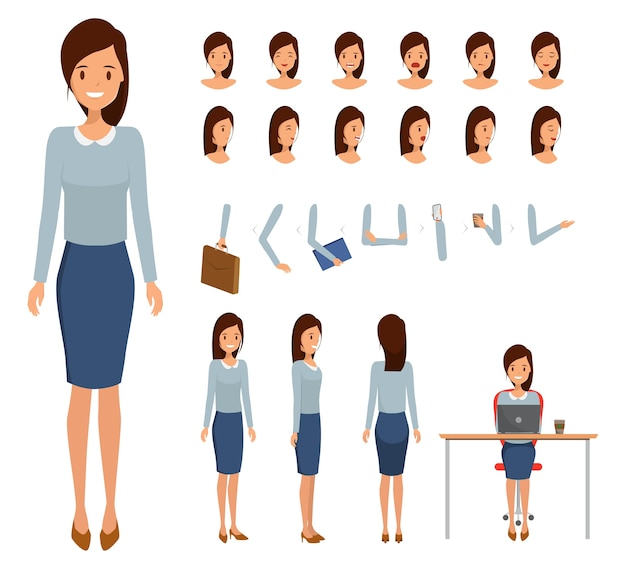Frauenfigur erbauer für verschiedene posen