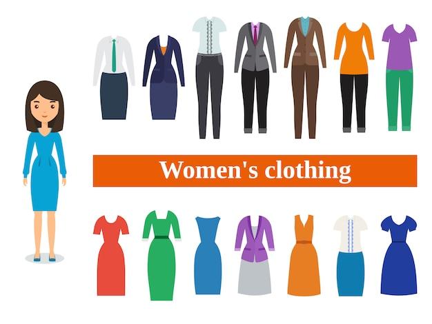 Frauenkleidung. geschäfts- und freizeitkleidung für frauen.