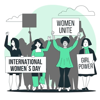 Frauenkongresskonzeptillustration