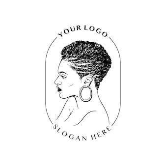 Frauenlogo handgezeichnet