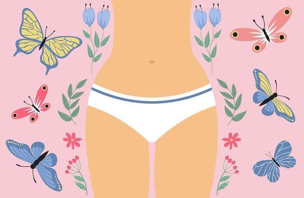 Frauenperiode, frauengesundheitshintergrundfarbe
