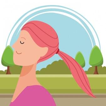 Frauenporträt-avatarazeichentrickfilm-figur