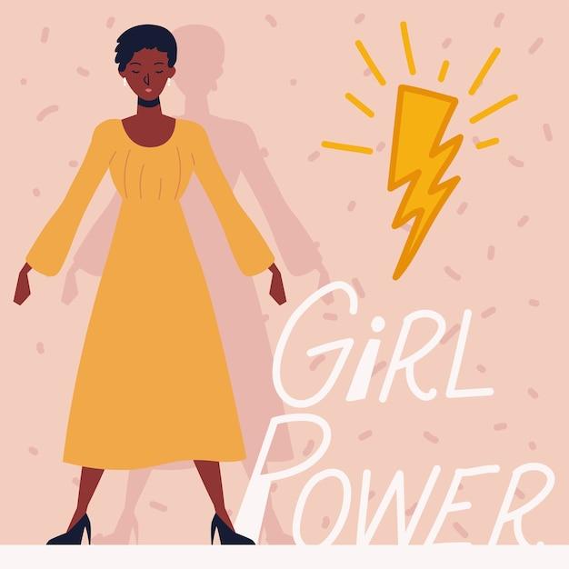 Frauenpower, afroamerikanische weibliche figur