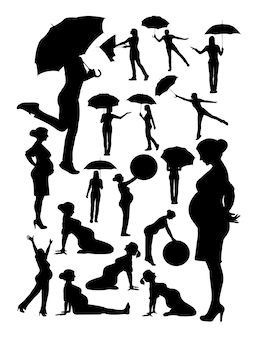 Frauenschattenbild