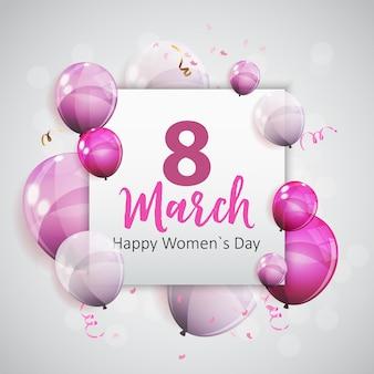 Frauentag grußkarte 8. märz