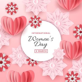 Frauentag im papierstil