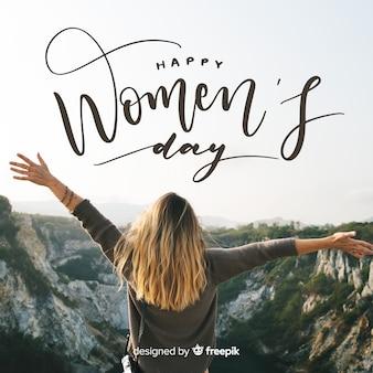 Frauentag schriftzug