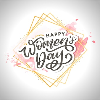 Frauentag. typografische beschriftung