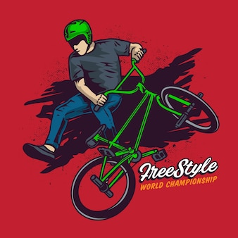 Free style bmx springe hoch