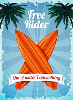 Freerider surfbretter poster