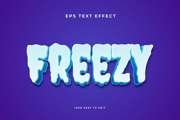 Freezy cold ice text-effekt