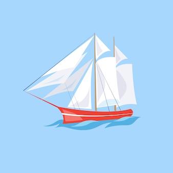 Fregattenschiff auf dem wasser.