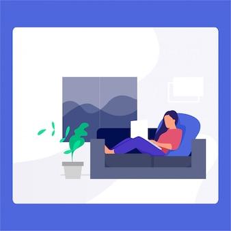 Freiberufliche illustration für website
