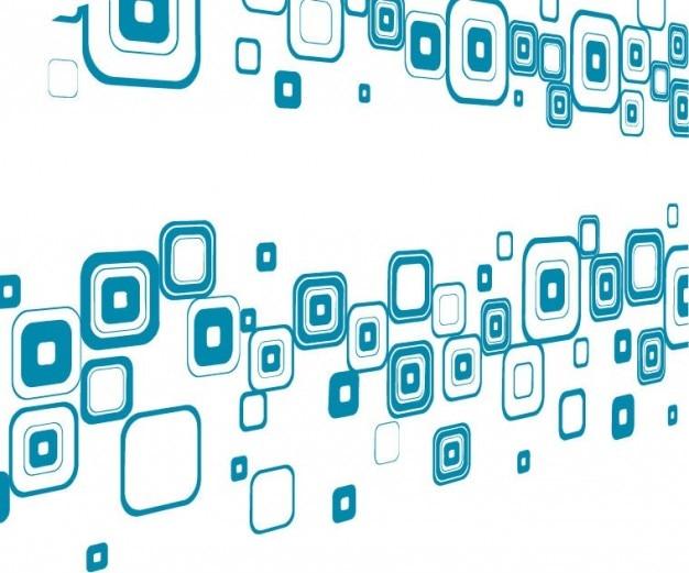 Freie abstrakte blaue tech-vektor-hintergrund