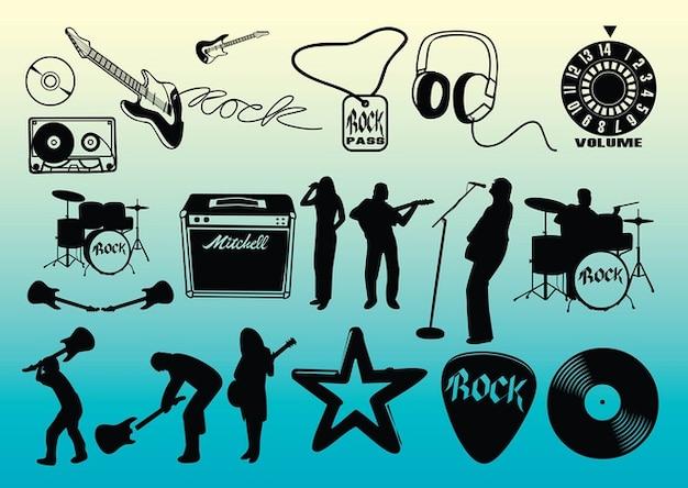 Freie rockmusik vektoren