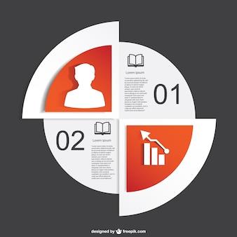 Freie vektor-infografik