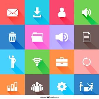 Freien flachen design-ikonen