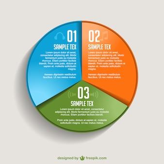 Freien vektor piechart infografik