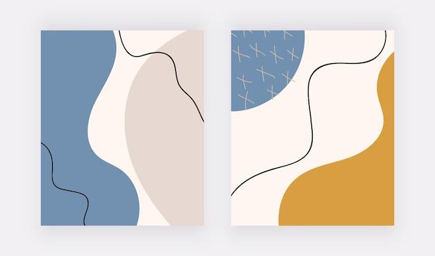 Freihand-boho-hintergründe mit geometrischen formen