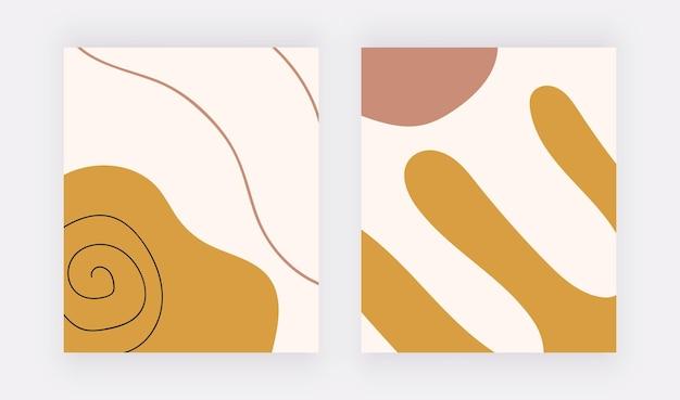 Freihand-hintergründe mit geometrischen boho-formen und -linien