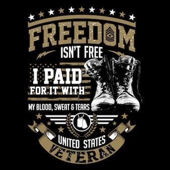 Freiheit ist nicht frei - illustration us-veteranenthemen